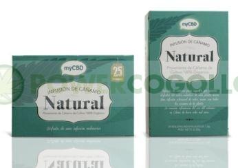 MyCBD Infusión Natural Cáñamo (25 bolsitas individuales por paquete) 0