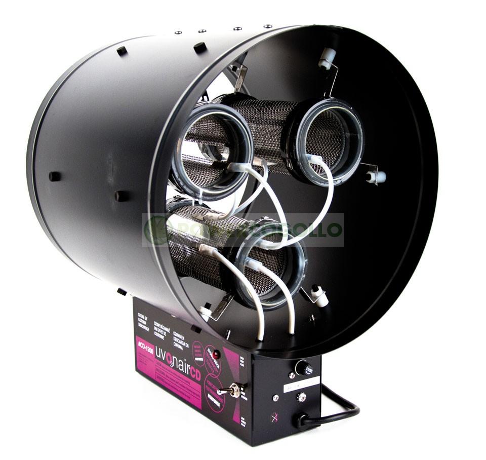 Ozonizador Uvonair CD1200-3 coronas Elimina el olor del Cultivo de Cannabis 1