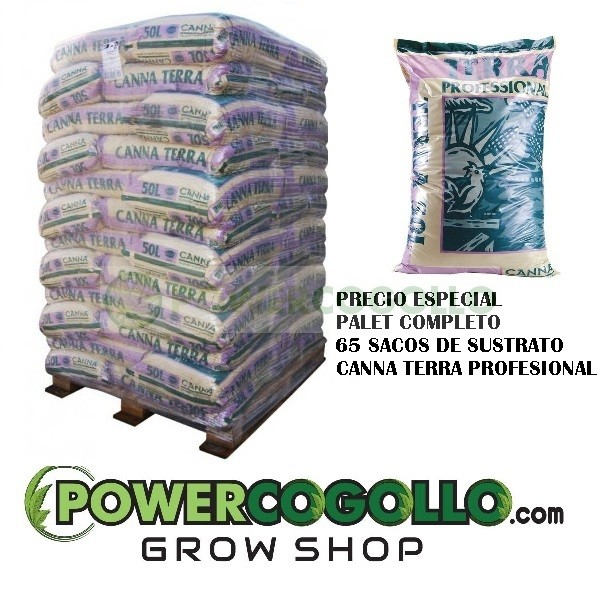 Palet Sustrato Canna Terra Profesional 50 Lt (65 sacos) 0
