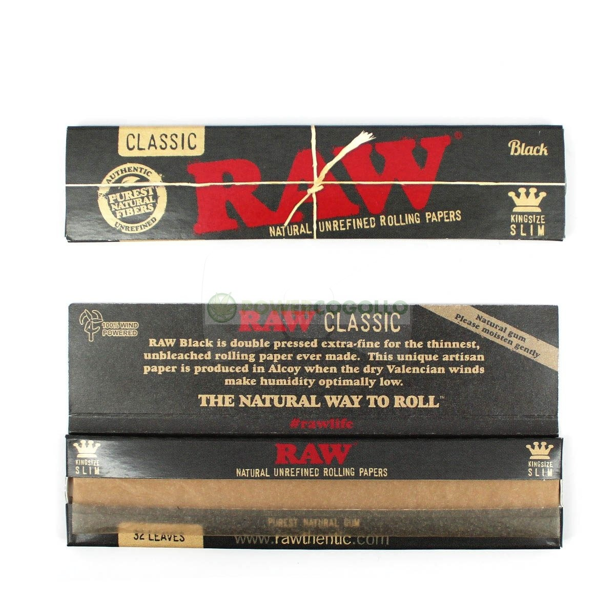 PAPEL RAW BLACK KING SIZE SLIM 2