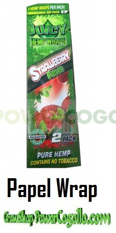 PAPEL DE CAÑAMO HEMP WRAPS JUICY BLUNT FRESA 0