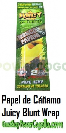 PAPEL DE CAÑAMO HEMP WRAPS JUICY BLUNT MANGO PAPAYA 0