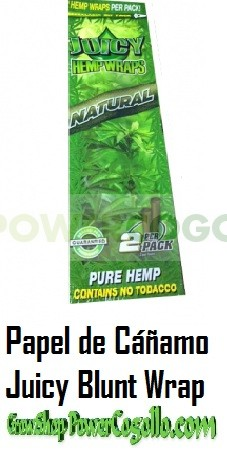 PAPEL DE CAÑAMO HEMP WRAPS JUICY BLUNT NATURAL 0