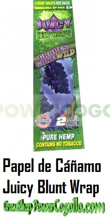 PAPEL DE CAÑAMO HEMP WRAPS JUICY BLUNT UVA 0