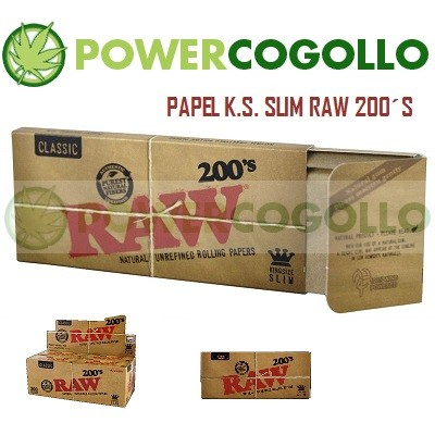 Papel de Fumar RAW K.S. Slim 200´s 0