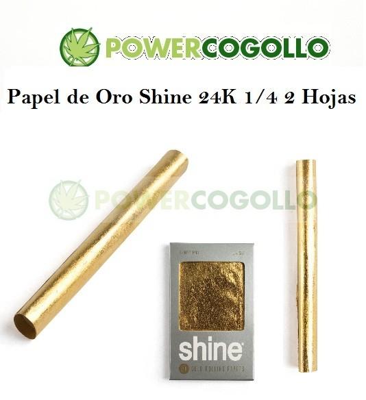 Papel de Oro Shine 24K 1/4 2 Hojas 1