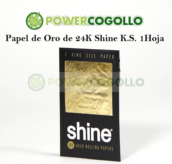 Papel de Oro 24K Shine King Size 1 Hoja 1