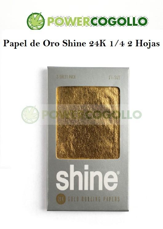 Papel de Oro Shine 24K 1/4 2 Hojas 0