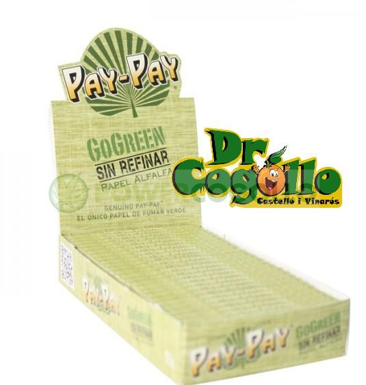 papel fumar pay-pay gogreen 1-4 alfalfa 1