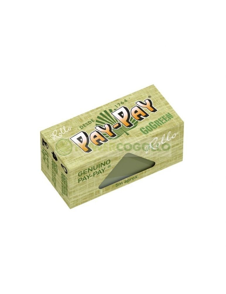Papel Pay-Pay Rollo 5m GoGreen Verde 0