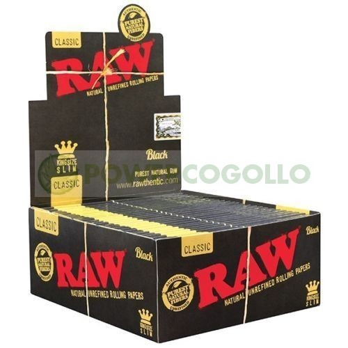 PAPEL RAW BLACK KING SIZE SLIM 1