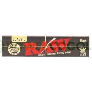 PAPEL RAW BLACK KING SIZE SLIM 0