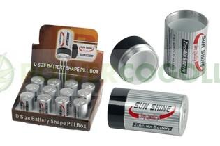 Battery shape Pill Box safe, C size 0