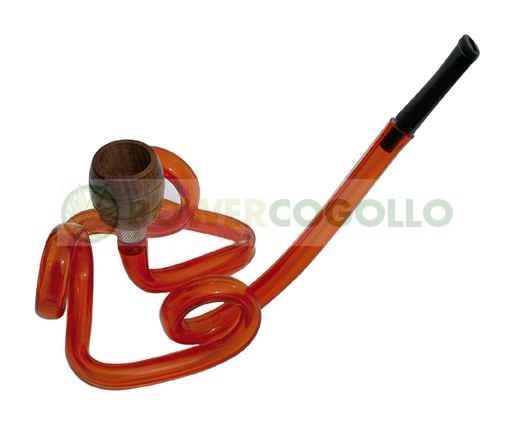 Pipa Metacrilato Espiral rojo 2 4