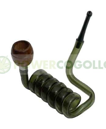 Pipa Metacrilato Espiral verde 2 2