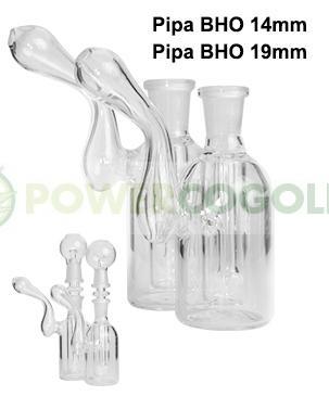 Pipa agua BHO Bubbler Borosilicato 14 mm 0