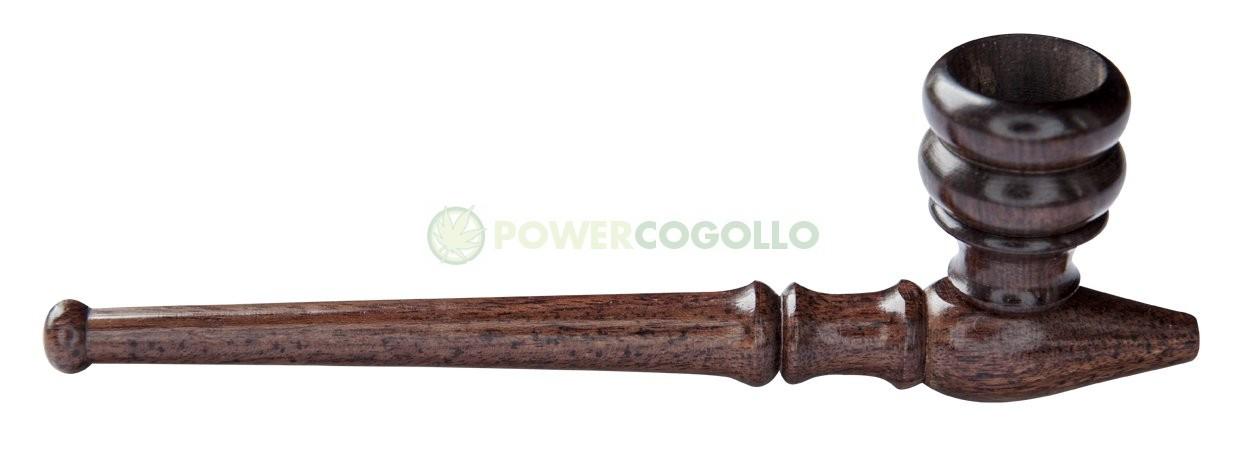 Pipa de Madera de palo de rosa de 15,24 cm con Tiro 0