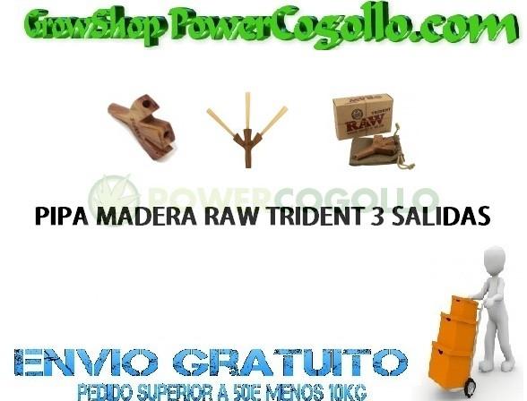 Pipa Madera Trident Raw (3 Conos) 0