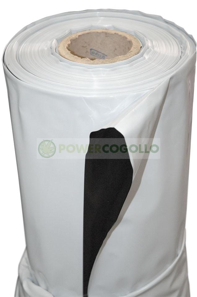 Plástico Reflectante Blanco y Negro (10mt) 1