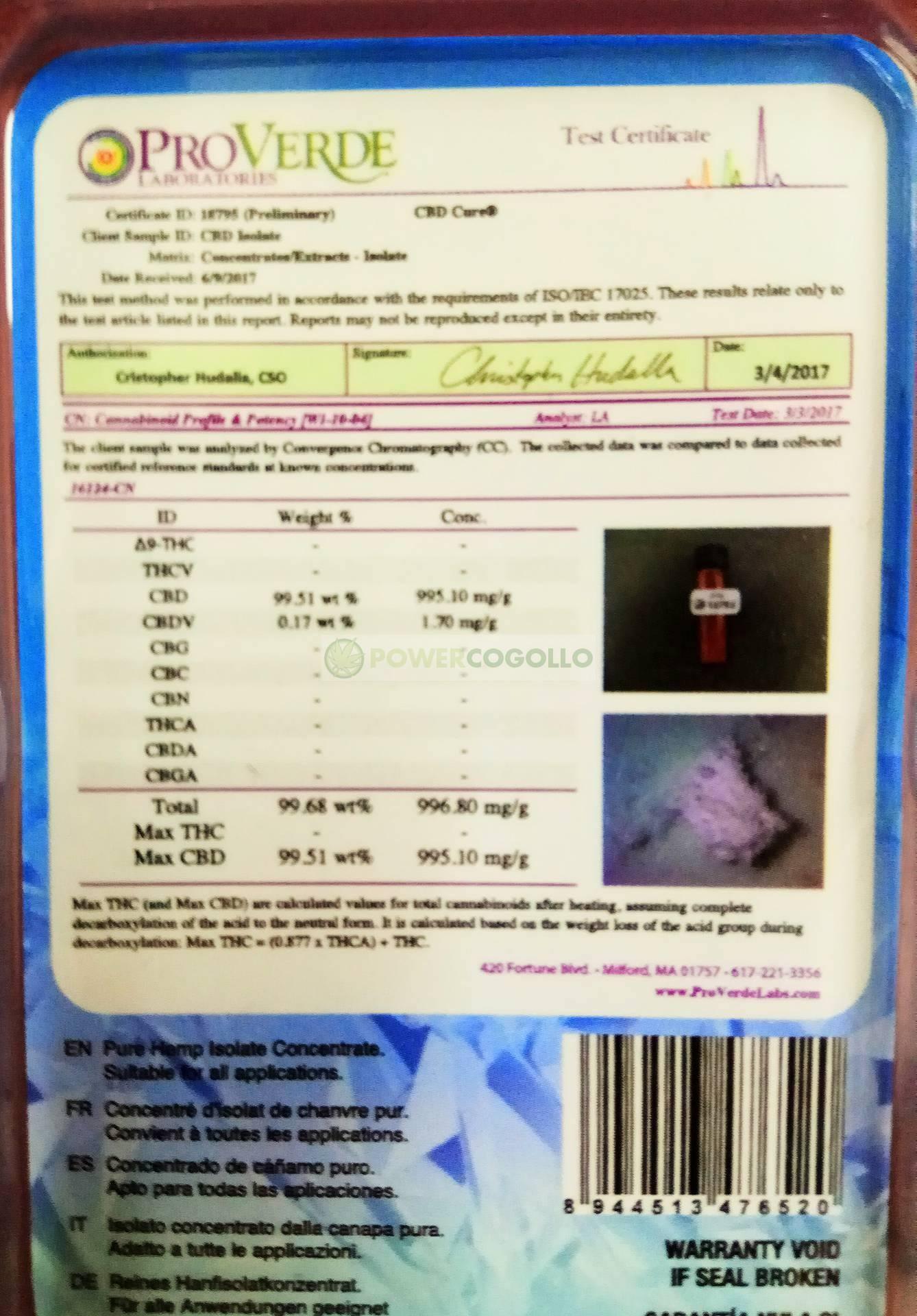 Pure CBD Isolate 99,60% (CBDCure) 1