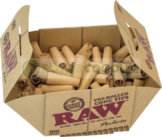 Boquillas de Cartón Cónicas Pre-liadas RAW (100unid) 0