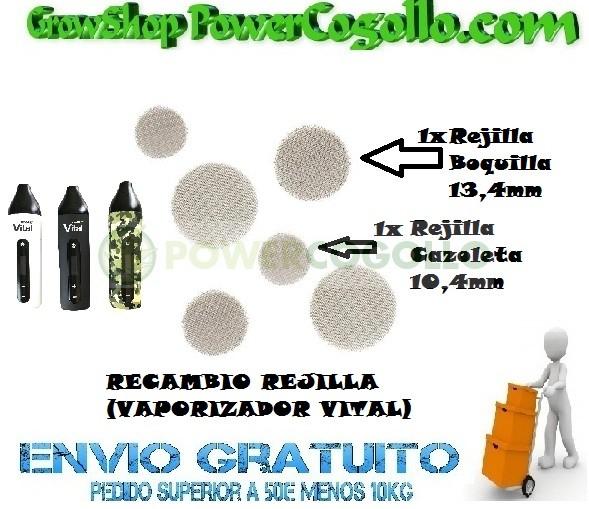 RECAMBIO REJILLA CAZOLETA 10,4 MM (VAPORIZADOR VITAL) 0