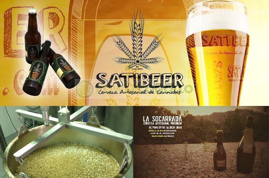 SatiBeer Cerveza Artesana de Cannabis 1