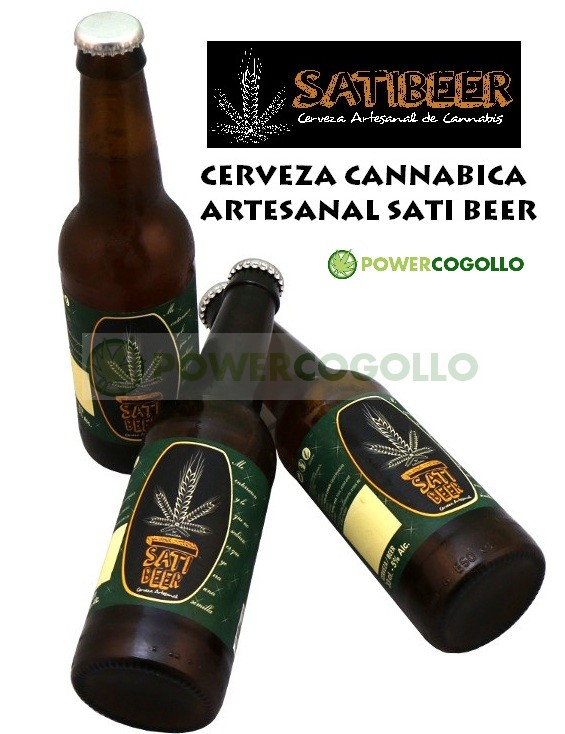 SatiBeer Cerveza Artesana de Cannabis 0