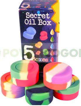 Bote Silicona para BHO Secret Oil Box (5 unidades) 0