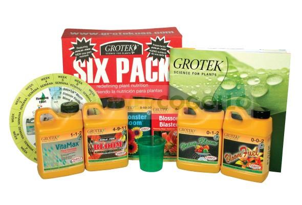 Abono Completo Six Pack (Grotek) para todas las fases del cultivo de cannabis 0