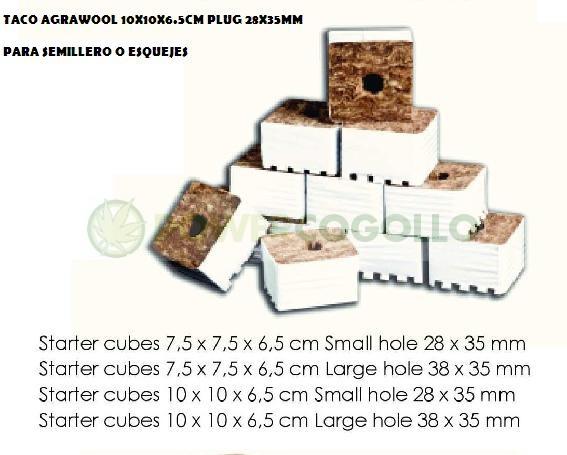Taco AgraWool 10X10X6.5cm Plug 28X35mm 0