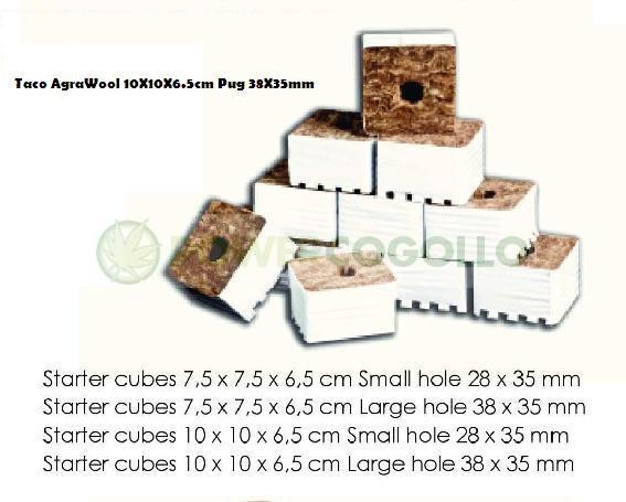 Taco AgraWool 10X10X6.5cm Plug 38X35mm 0