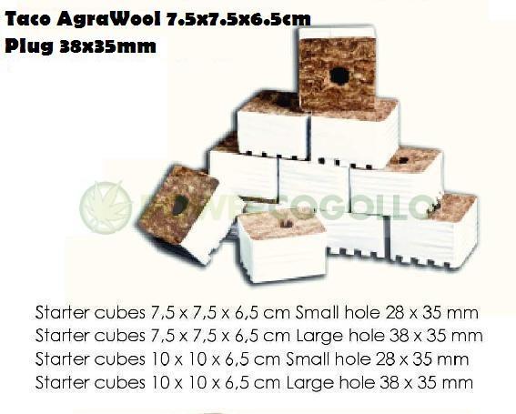 Taco AgraWool 7.5x7.5x6.5cm Plug 38x35mm 0
