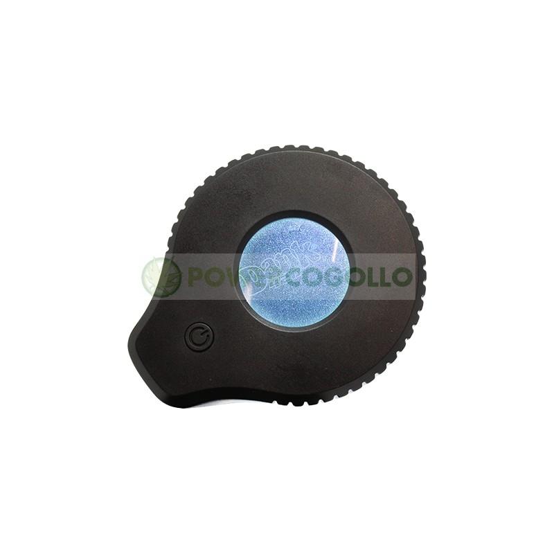 Tarro de Vidrio con Lupa y LED Dank 420-NEGRO 1