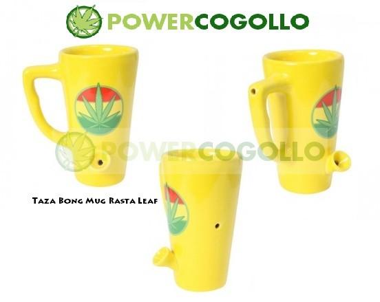 Taza Bong Mug Rasta Leaf 0
