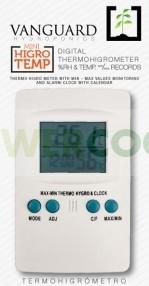 Termómetro Higrómetro Digital Máx/Mín VANGUARD para el control de clima en el cultivo interior 0