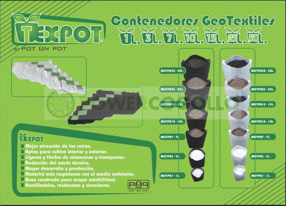 Maceta Tex Pot Negra (Mejor enraizamiento de las plantas) 1