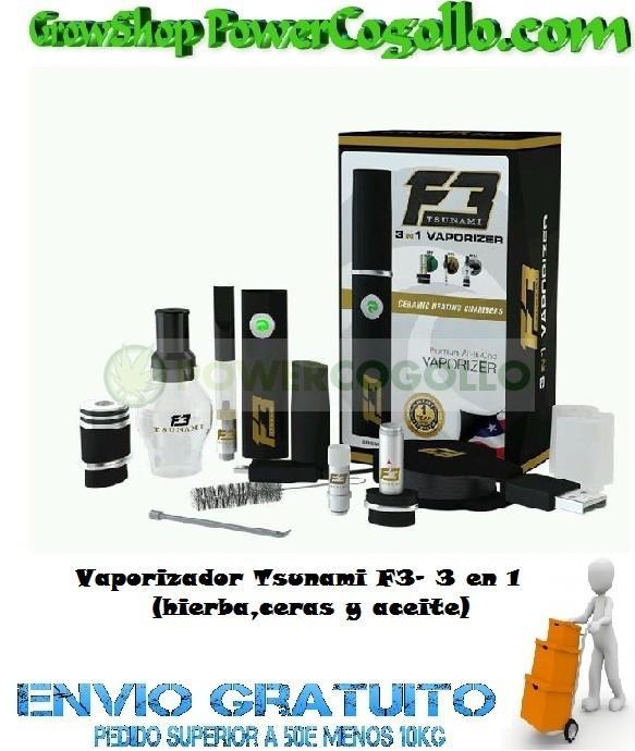 Vaporizador Tsunami F3- 3 en 1 (hierba,ceras y aceite) 0