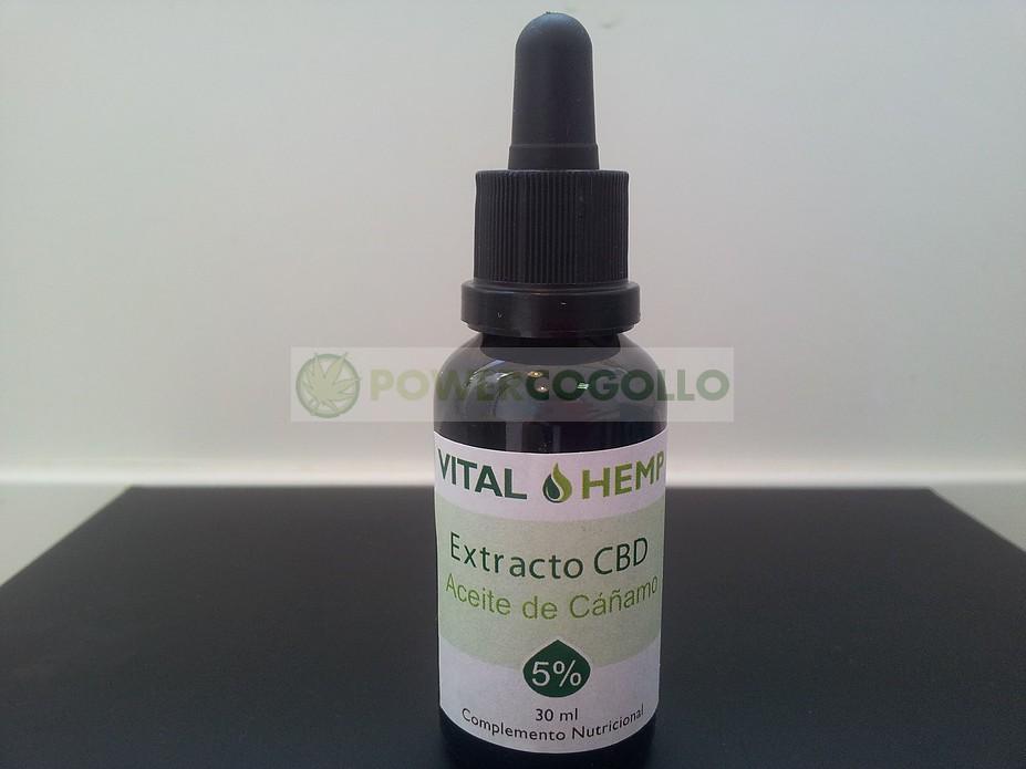 ACEITE DE CAÑAMO CON CBD 5% 30 ML VITAL HEMP 0