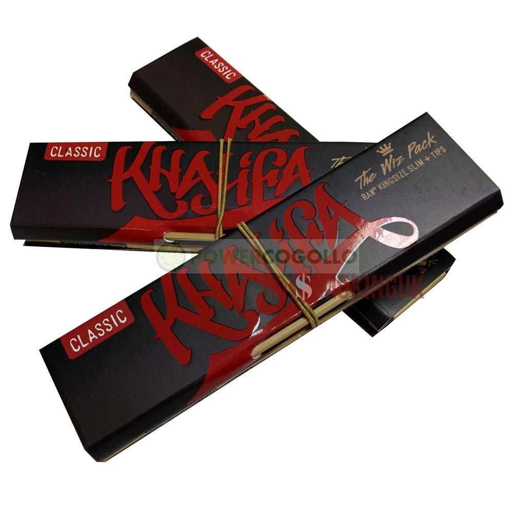 Papel Natural Raw K.S.S. Edición Wiz Khalifa + Boquillas + Prensador  2