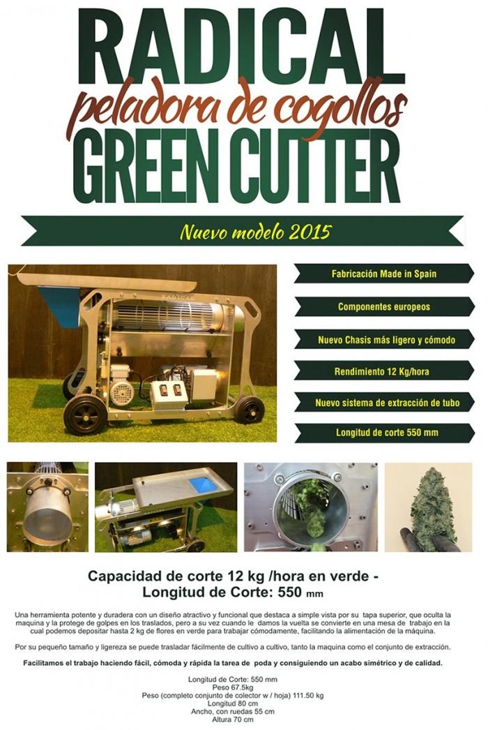 Radical Green CutterTrimmer Peladora Cogollos