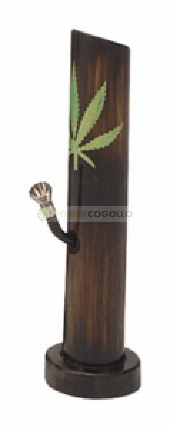 Bong Bambú Hoja de Marihuana de 29cm