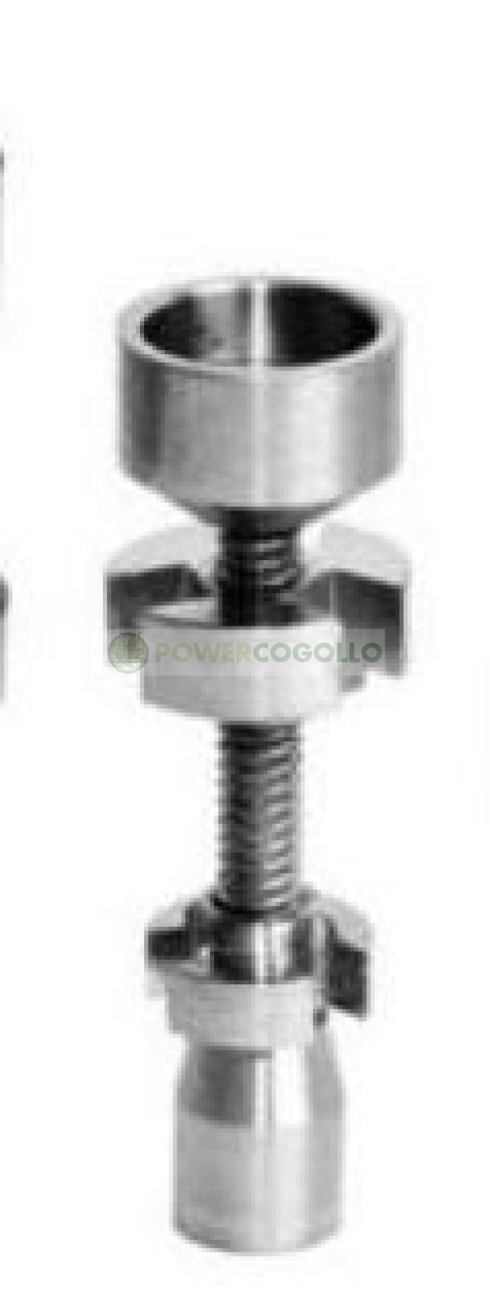 Tornillo Ajustable Titanio 14-18mm para fumar BHO y Resinas
