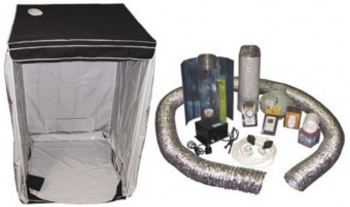 Kit Armario Cultibox Light L Completo 120x120x200cm Cultivo Cannabis Indoor-Interior