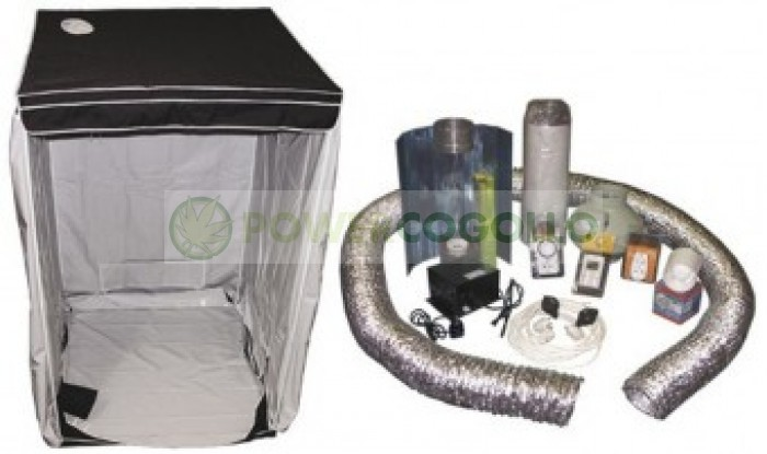 Kit Armario Cultibox Light L Completo 120x120x200cm Cultivo Cannabis Indoor-Interior