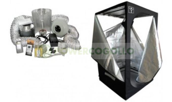 KIT ARMARIO CULTIVO INTERIOR CULTIBOX SG COMBI L 120x120x200cm