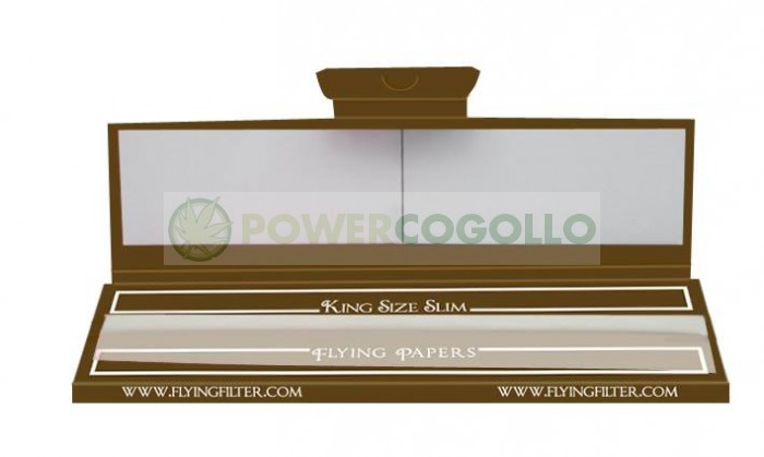 Papel Flying Brown King Size Slim + Boquillas