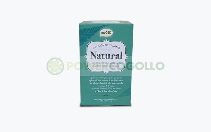 MyCBD Infusión Natural Cáñamo (25 bolsitas individuales por paquete)