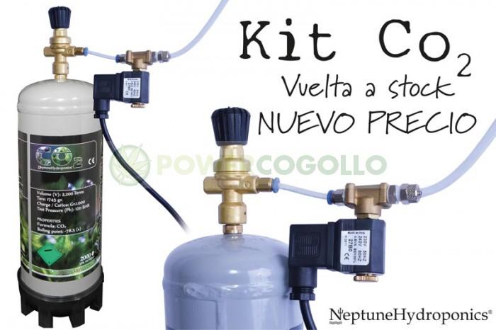 Kit CO2 con bombona desechable 1 kg (bombona, eletroválvula y llave)