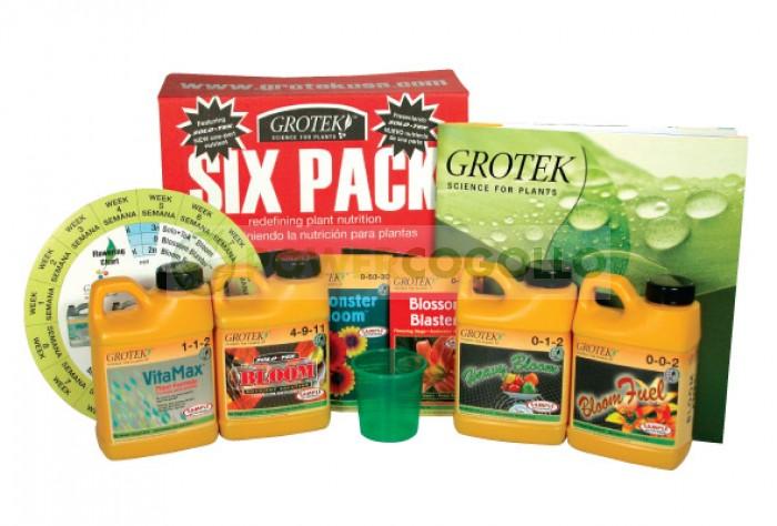 Abono Completo Six Pack (Grotek) para todas las fases del cultivo de cannabis
